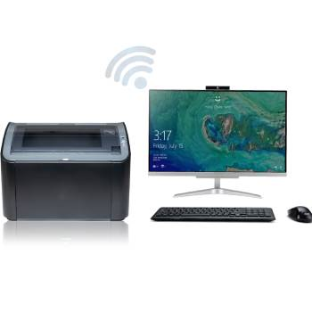 how to connect canon printer to computer