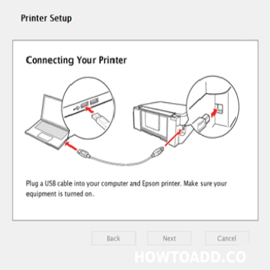 how to connect epson printer to computer