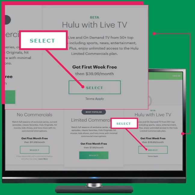 how to add live tv to Hulu