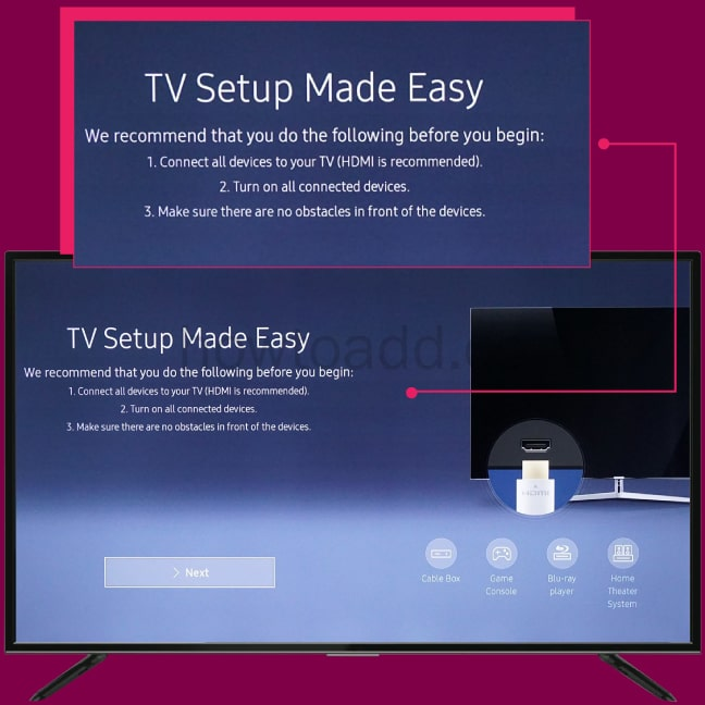 how to setup smart tv