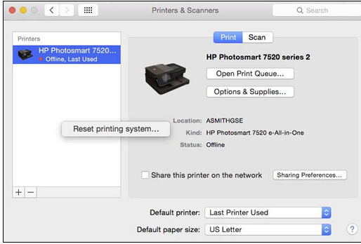 HP Smart Can't Find Printer MAC